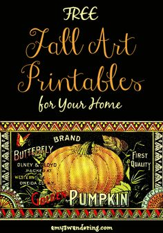 More than 20 Free Fall Art Printables for your home