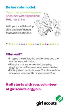 #icantwaitto be her role model. It all starts with you, volunteer at www.girlscoutsnorcal.org/join.