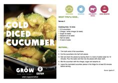 Cold diced cucumber #GROWmethod #recipe