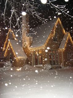 Snowing on Christmas