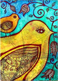 birds #zentangle