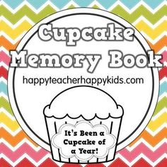Cupcake Memory Book - perfect to start for the new school year!