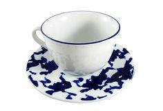 S/6 Assorted Sponge Breakfast Cups, Blue on OneKingsLane.com