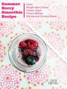 Young Living Ningxia Berry Syrup Smoothie Recipe @diyshowoff