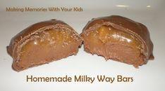 Homemade Milky Way Candy Bars