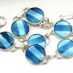 Blue Ikat Disk Bracelet by jkay jewelry, via Flickr