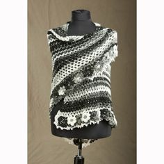 Flowers Edge Crochet Shawl