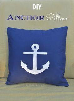 DIY Anchor Pillow