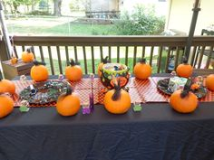 Table at a Halloween Party #Halloween #party