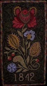 Wool rug hook, hook rug, color