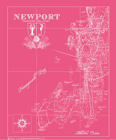 Coastal Town Maps To Frame For Your Beach House .