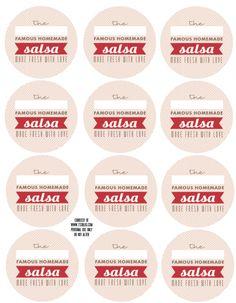 Salsa labels on the Mason Jar Label Design contest page