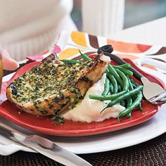 Quick-Fix 20-Minute Meals | Pork Chops With Herb-Mustard Butter | SouthernLiving.com
