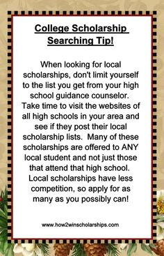 College Scholarship Searching Tip!  #College #Scholarships