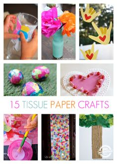 15 {Adorable} Tissue Paper Crafts