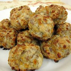 sausage balls, you can use cream cheese instead of the other cheese, that I don't even know what kind that is.