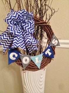 DIY Indianapolis Colts wreath