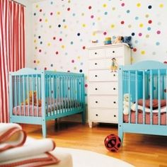 Designing a nursery for two children isn't easy but here are some ideas for you. (via thebooandtheboy)