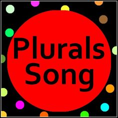 Introduce Plural Nouns to young learners with this Plurals song with song lyrics. Super cute song to teach plural nouns.