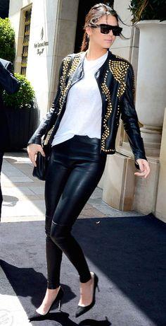 paris, fashion, biker jackets, style, kendall jenner, kardashian, hotel georg, kendal jenner, season hotel
