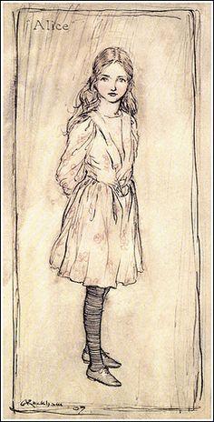 Arthur #Rackham #1867 ~ #1939 Alice's Adventures in Wonderland by Lewis Carroll Published by William Heinmann Ltd ~ 1907