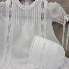 New Heirloom Christening Gown/Day Gown with Cathedral Windows. $165.00, via Etsy. Matching Bonnet sold seperately