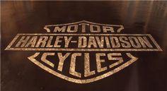 A concrete logo for loyal Harley fans.  Very cool!  Advanced Concrete Technologies Jefferson, GA