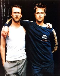 Edward Norton & Brad Pitt #fightclub