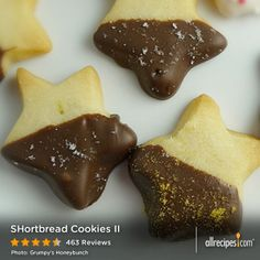 "Shortbread Cookies II | ""OMG, SO DELISH!!! Melt in your mouth buttery. Crisp, light, and full of flavor. I love that there are only 4 ingredients and yet they taste so amazing."""