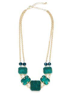 Emerald Druzy Bib