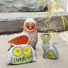 Pottery owls