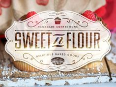Dribbble - Sweet N Flour Confectionery Cards by Tron Burgundy
