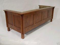 Mission Arts &Crafts Stickley Prairie style Settle Sofa (corner view)