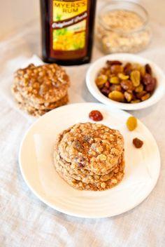 Dark Rum Oatmeal Raisin Cookies (must veganize)