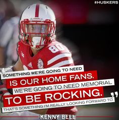 Listen to the Fro!! Lets get Memorial Stadium rocking Saturday and punch our ticket to Indianapolis for the Big Ten Championship!! GO BIG RED!!