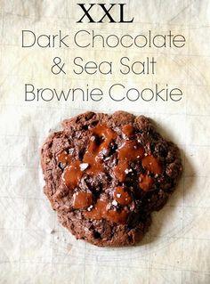 Dark chocolate and sea salt brownie cookie