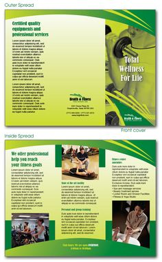Brochure InDesign templates for daycare preschool center and a health and fitness center. #indesign #indesigntemplates