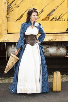 Steampunk gown