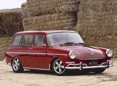 '66 VW Squareback, we had a white one...