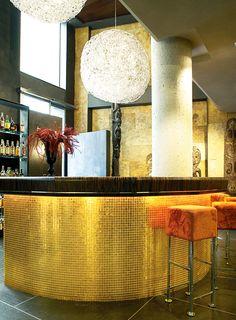 Hotel Urban · Madrid, Spain - Aureo 001/W -  Vitreo 208 - #trend #mosaic #green #aureo #vitreo #hotel