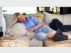 "Ellen Degeneres is a Pet Rescue Advocate!  The talk show host is part owner of pet food company Halo and has, at last count, two dogs and three cats that she shares with wife Portia de Rossi. ""I urge people to rescue animals because they are all begging,"" DeGeneres told PEOPLE."
