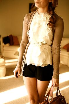 Love the top & cardigan.