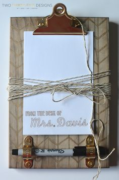 DIY Sharpie Clipboard - Two Thirty-Five Designs