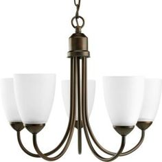 Gather Collection Antique Bronze 5-Light Chandelier-P4441-20 at The Home Depot