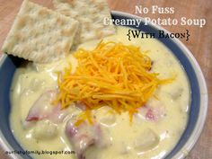 No Fuss Potato Soup {With Bacon}  ~Our Fishy Family~