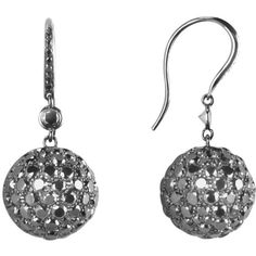 Colucci Diamonds 22.58 ctw Black Diamond Drop Earrings ($18,900) found on Polyvore