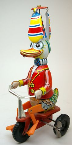 Vintage tin toy wind-up. Learn about your collectibles, antiques, valuables, and vintage items from licensed appraisers, auctioneers, and experts at Blue Vault. Visit: http://www.bluevaultsecure.com/roadshow-events.php