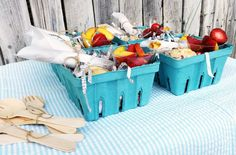 SUCH A CUTE Brunch in a Box Idea via Kara's Party Ideas   Cake, decor, recipes, favors, games, and MORE! KarasPartyIdeas.com #brunchparty #brunch #berrybaskets #partydecor #brunchrecipes #partyideas #partystyling #eventplanning (13)