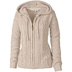 Fat Face Amelia Cable Zip Thru Hoodie , Ivory found on Polyvore