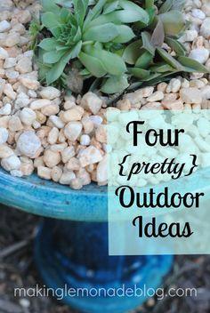 boho garden, outdoor living, birdbath, live idea, creativ garden